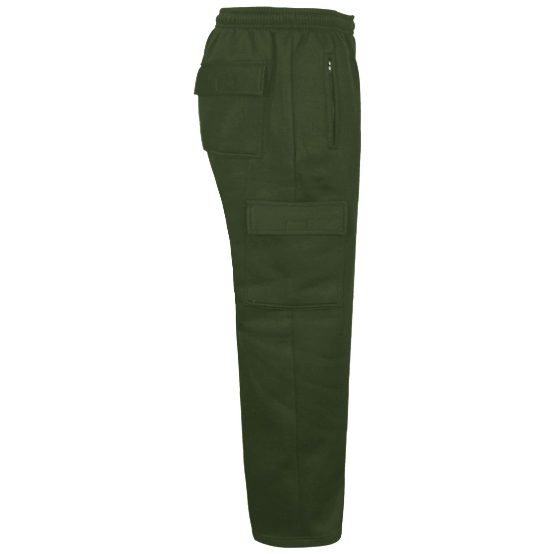 New Mens Elasticated Cargo Combat Jogging Bottoms Trousers Gym Tracksuit Joggers