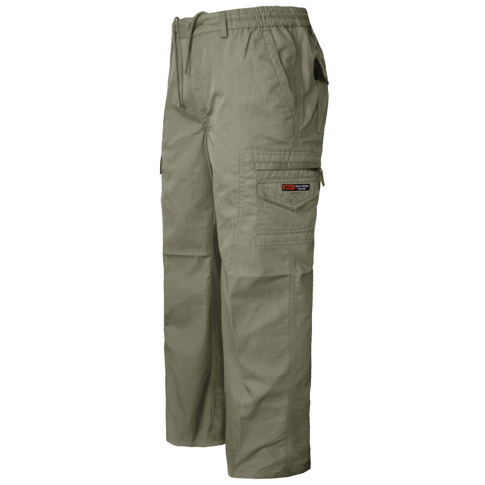 Pantaloncini da Uomo Cargo Combat Pantaloncini//3//4//Pantaloni Vita Elasticizzata Pantaloni Di Cotone
