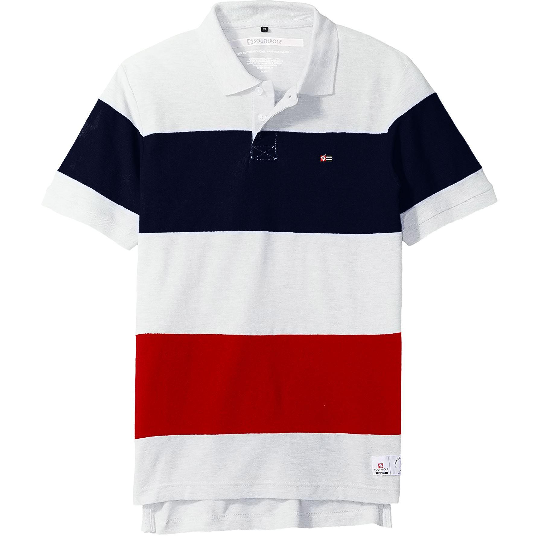 New Mens Pique Polo T Shirt Short Sleeve Cotton Contrast Panel Big Size S-5XL