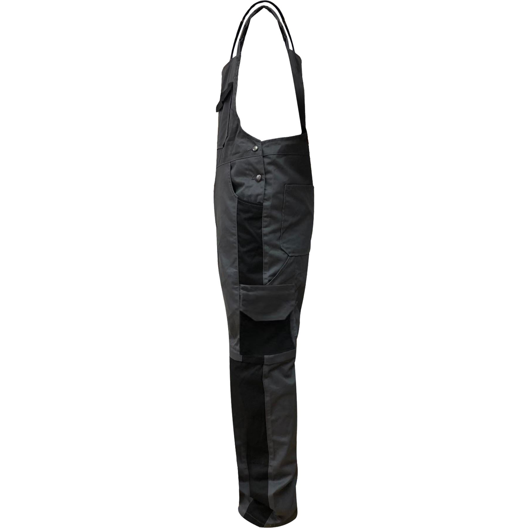 Mens Work Dungarees Bib and Brace Long Overalls Zip off to 3//4 Multi Pockets