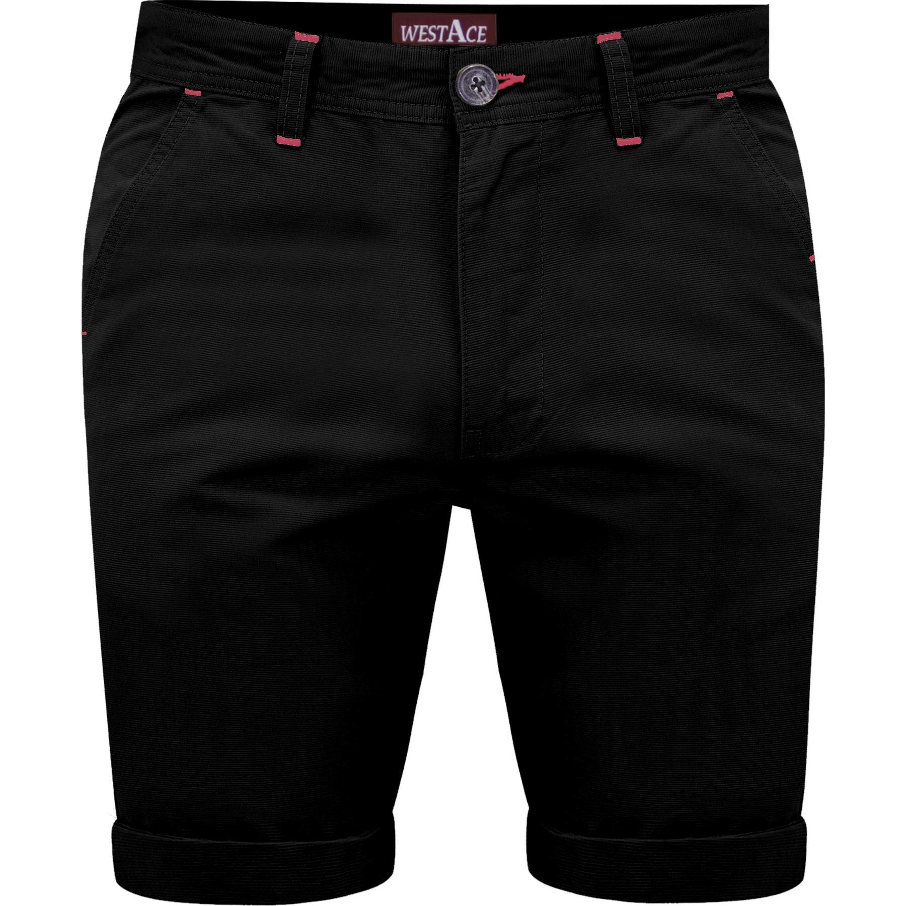 Mens 2 Pack Chino Shorts Cotton Multi Pack Half Pant Casual Gift Set Designer