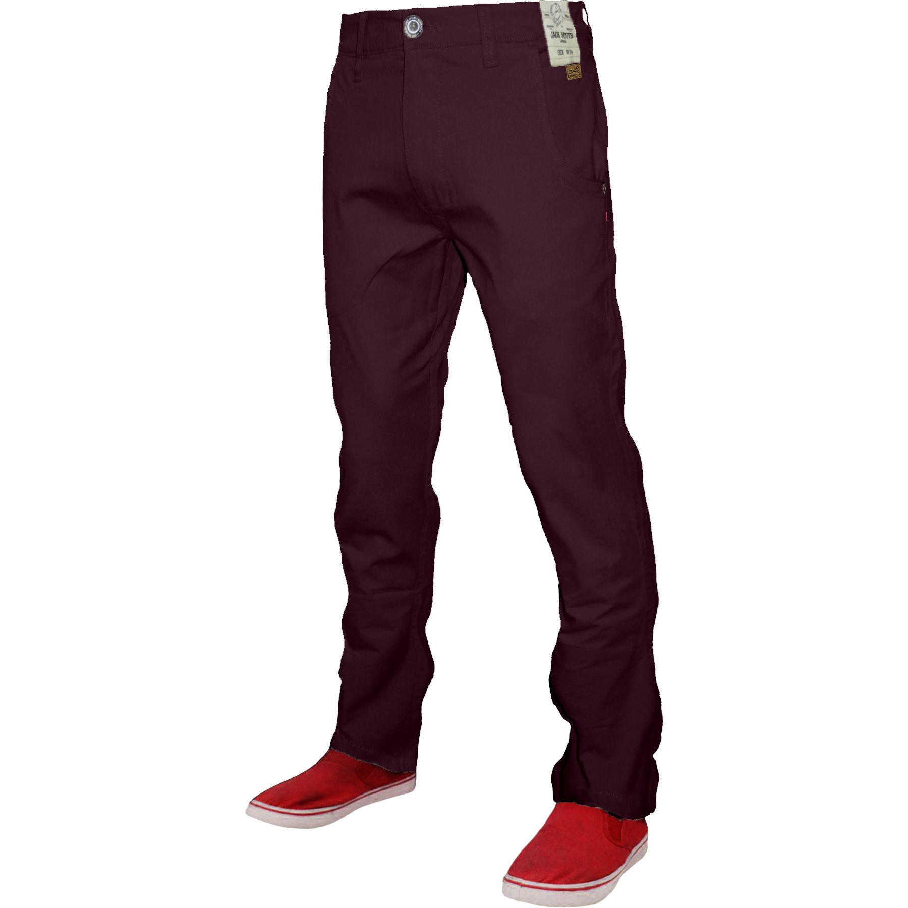 New Mens Chino Pants Cotton Slim Regular Fit Stretch Casual Designer Trousers