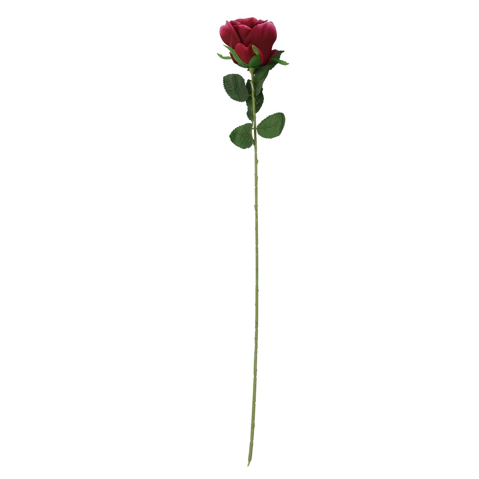 Large Open Artificial Roses Single Stem Flowers Wedding Home Fake Silk