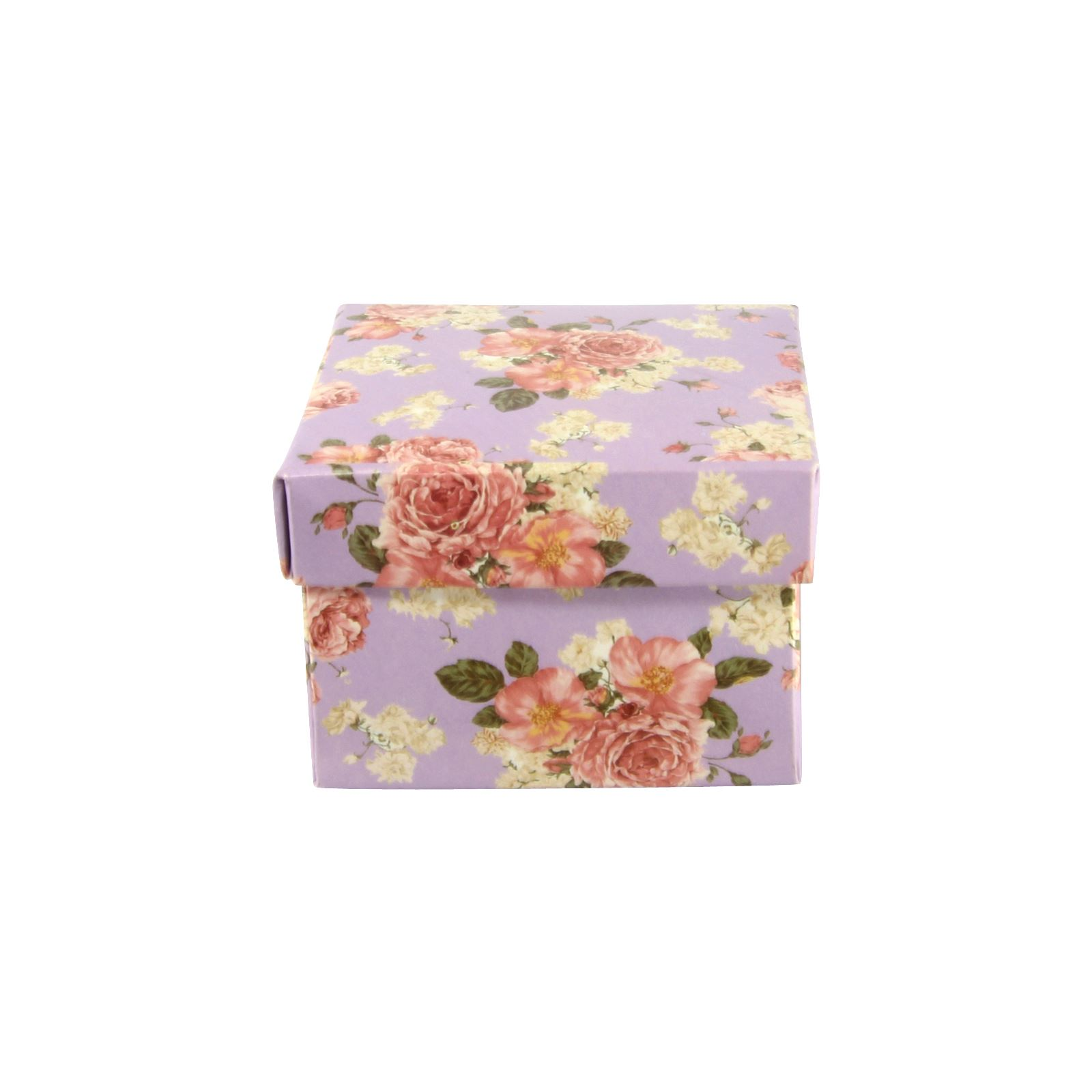 Wedding Vintage Flower Print Premium Double Sided Favour and Trinket Boxes