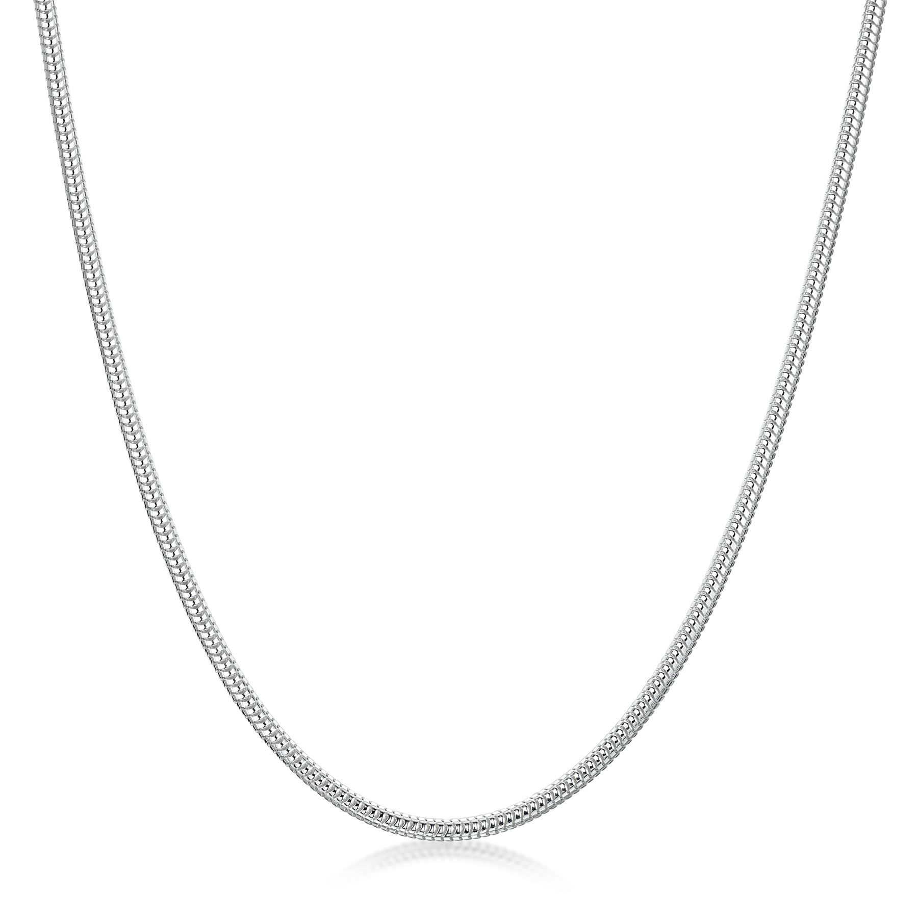 Amberta Genuine Real 925 Sterling Silver Long Solid Necklace Chain Made in Italy