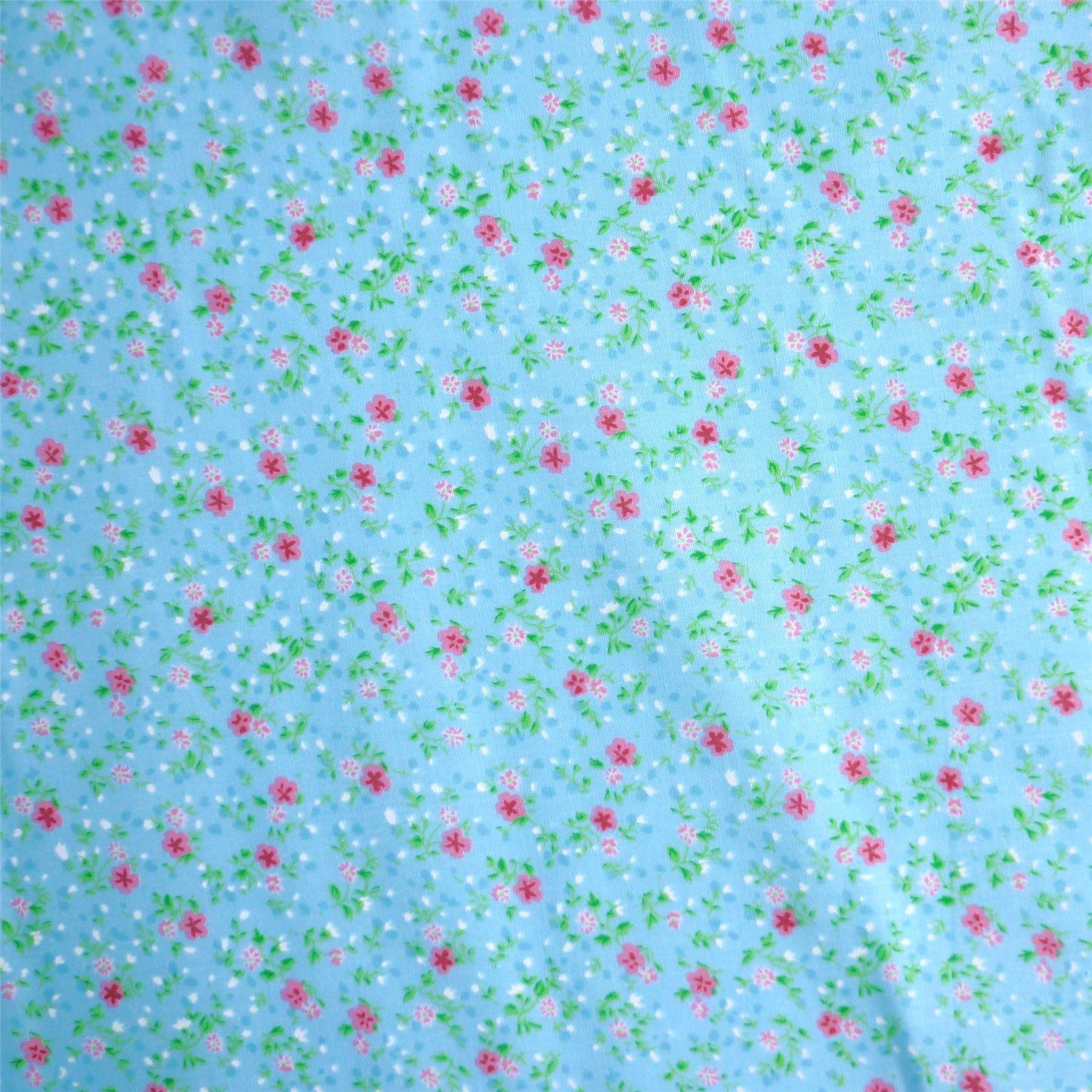por Metro 3 Colores Tela Polycotton impresa con diseño de la Flor Rosa Pequeña