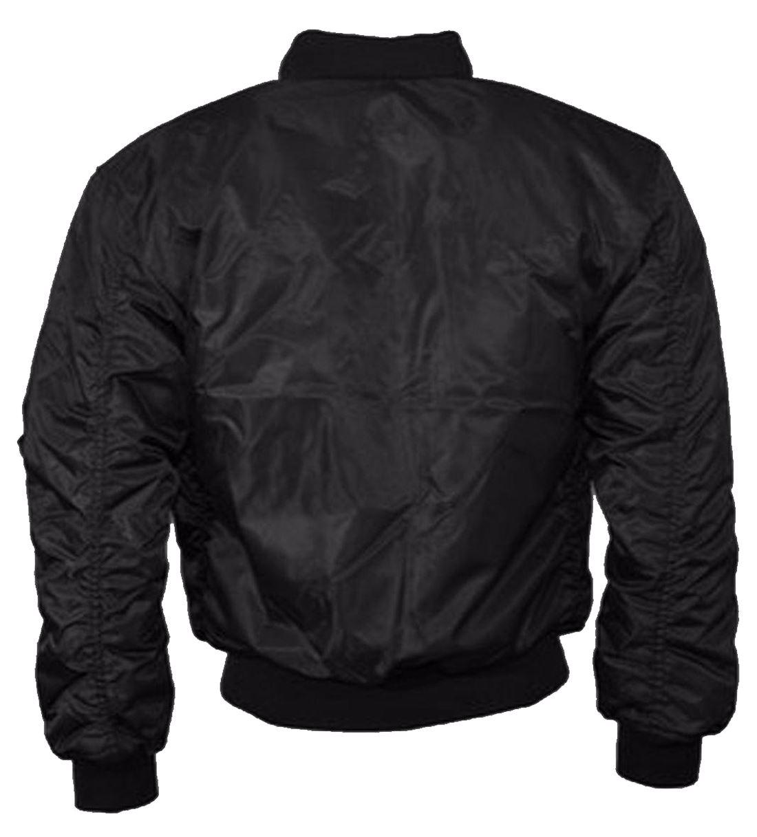 Womens Inspired Plain MA1 Bomber Jacket Ladies Long Sleeve ZipUp Party Wear Coat