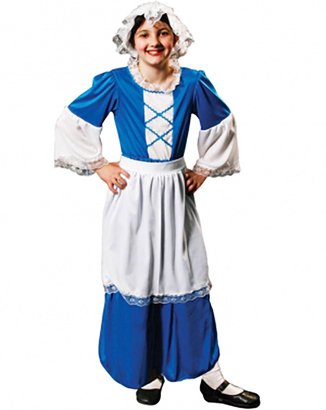 Enfant Tudor Girl Costume Filles pauvres Victorian Maid Livre Semaine Fancy Outfit