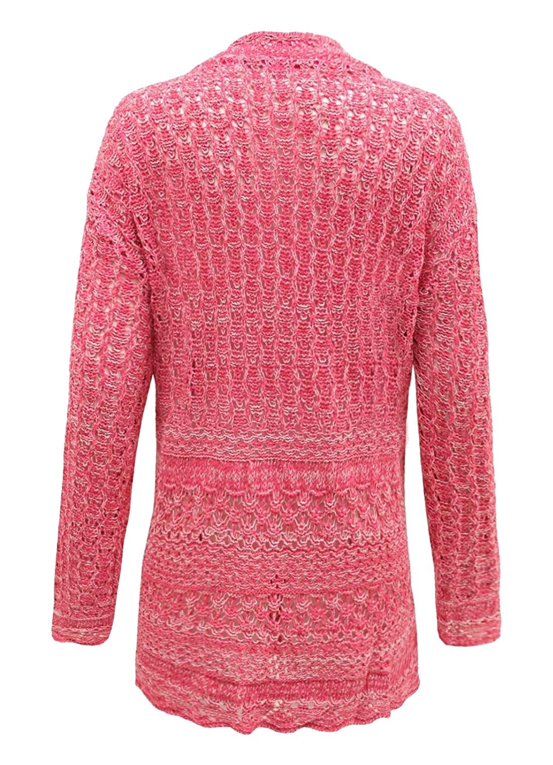Da Donna 2 Bottoni Crochet Lavorato A Maglia Fidanzato Cardigan donna maglione manica lunga
