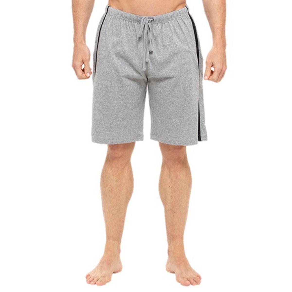 Mens Boys Grey Shorts Twin Pack Lounge Jersey PJs Nightwear Sleepwear Medium