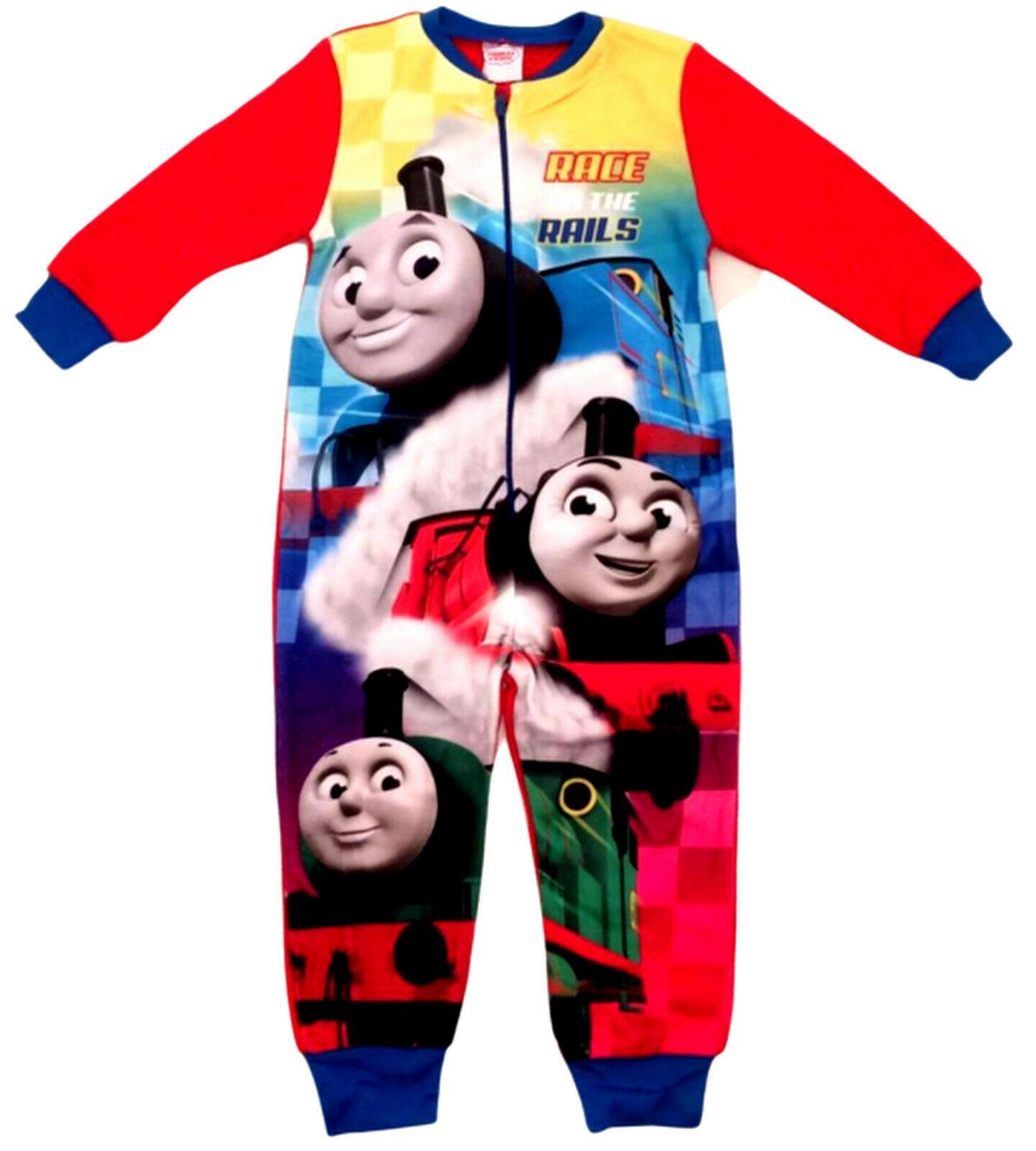 Kids Fleece Thomas the Tank Sleepsuit Sleepwear Character