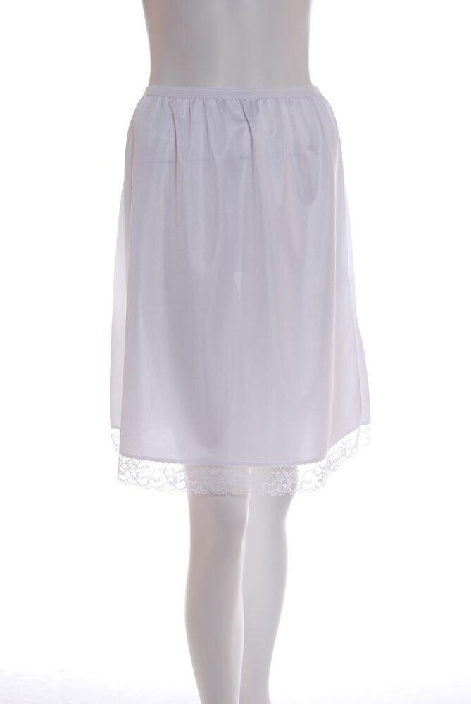 "Waist Slip Half Slips Ladies Black Ivory White Underskirt Petticoat 16/"" 36/"""