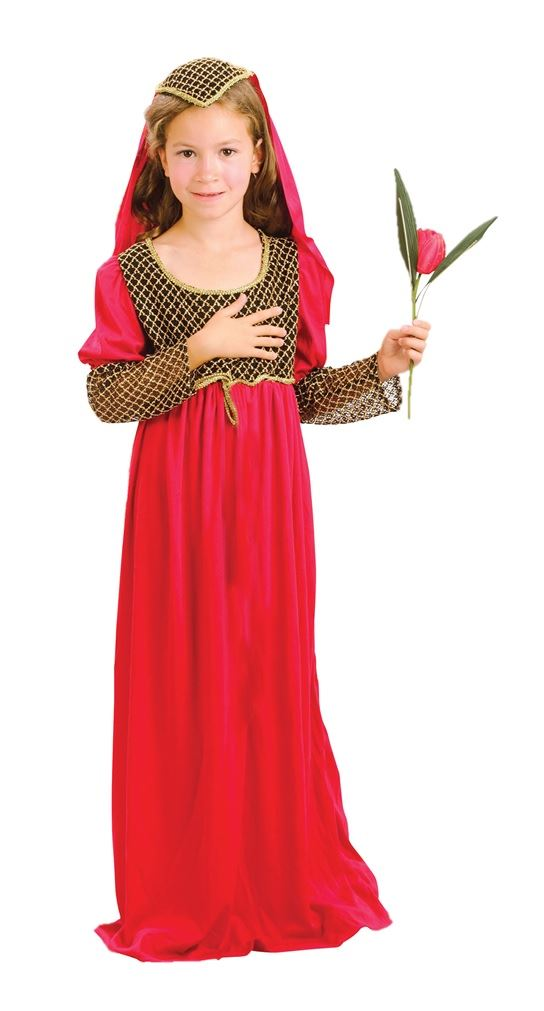 Le ragazze Juliet Fancy Dress Costume Medievale Lady Marion Libro Settimana Giorno