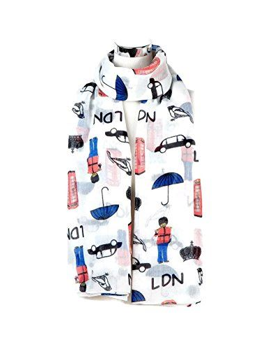 London Souvenir Soft Scarfs Scarves Wraps Shawls Women Girls Unisex