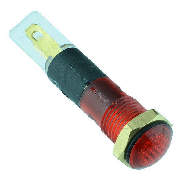 Red LED 8mm Panel Indicator 220V