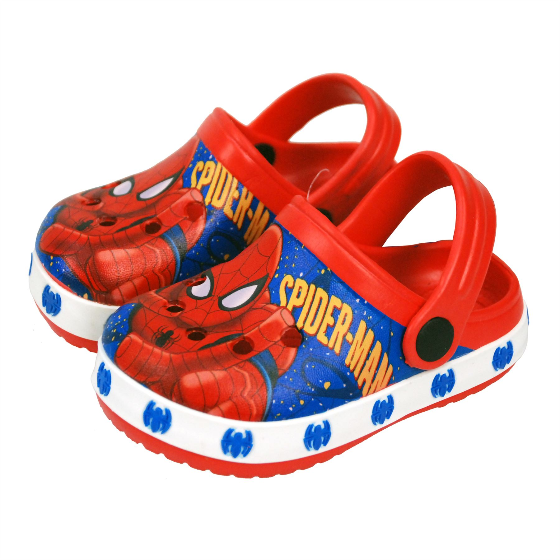 Marvel® SpiderMan Boys Sandals Crocs Pool Beach Shoes UK Sizes 18mths - 9years