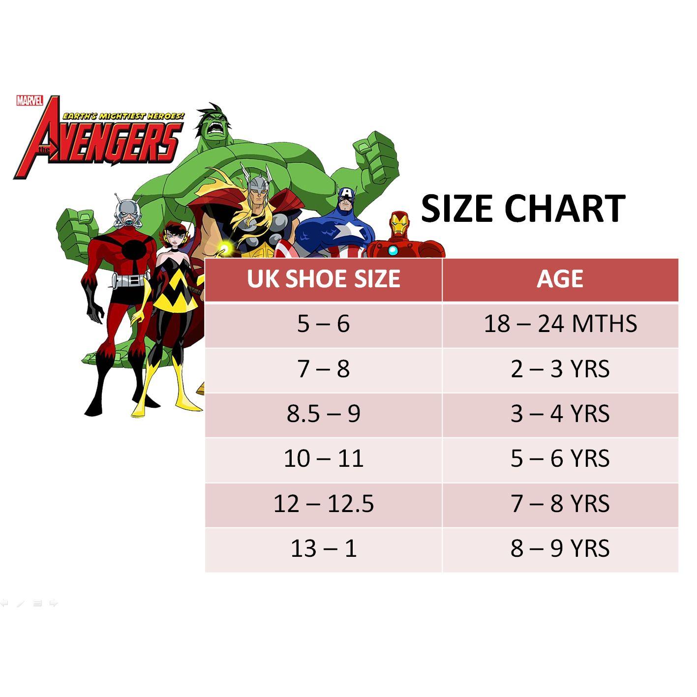 Marvel® Avenger Boys Sandals Swimming Pool Beach Slippers UK Sizes