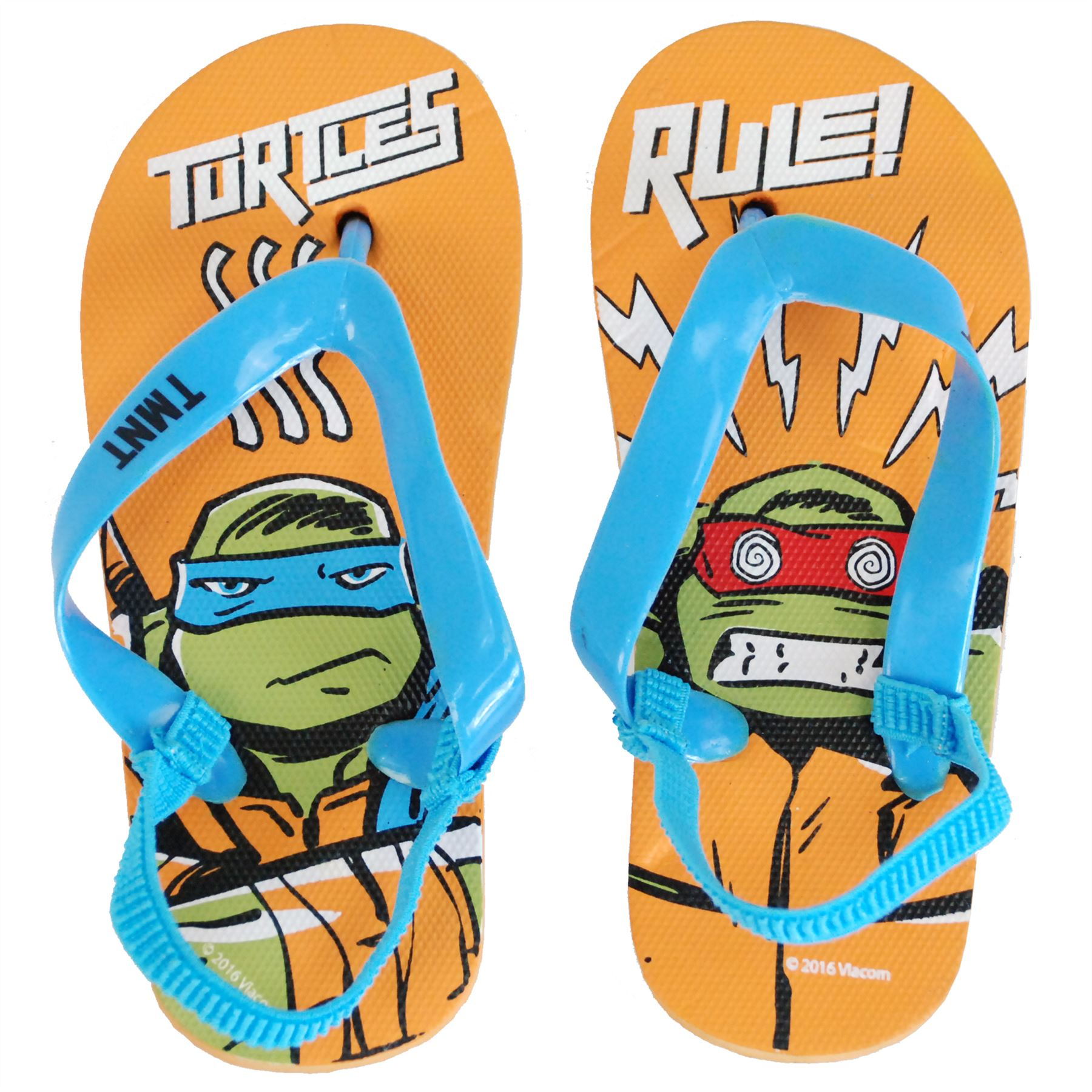 Nickelodeon® Turtles Kids Boys Flip Flops Sandals Slippers Shoes UK Sizes 5 to11