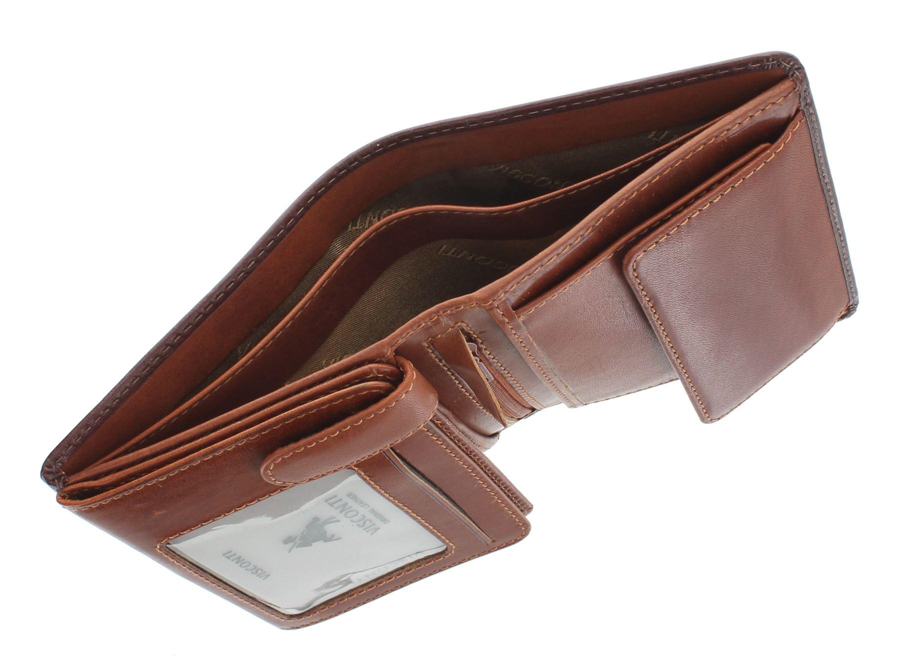 Visconti Torino COLLEZIONE WALDORF Pelle a concia vegetale Bi-Fold Wallet TR34