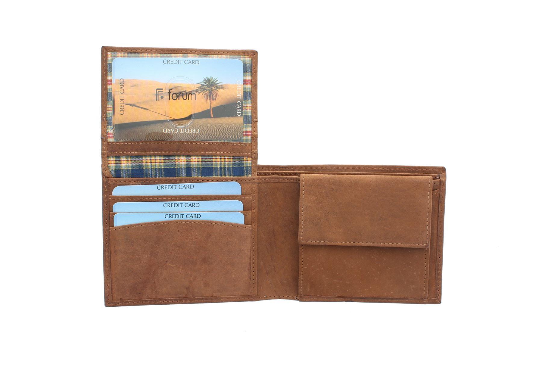 Florentino in pelle in pelle effetto invecchiato SIROCCO Collection Bi-Fold Wallet 4112