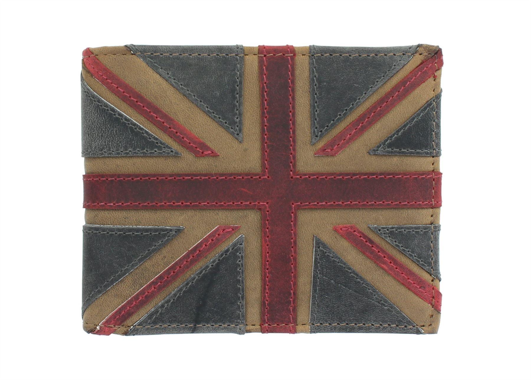 Mala en Cuir UNION JACK COLLECTION en cuir portefeuille RFID Bloquant 197 /_ 29