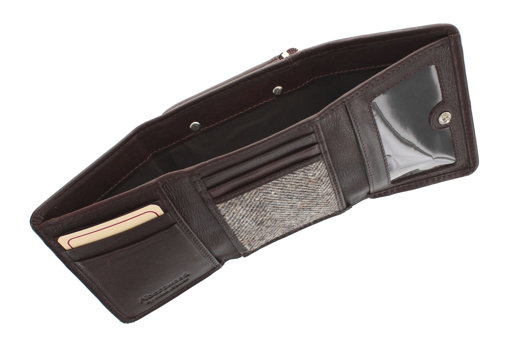 Mala Leather ABERTWEED Collection Compact Leather /& Tweed Purse 3123/_40