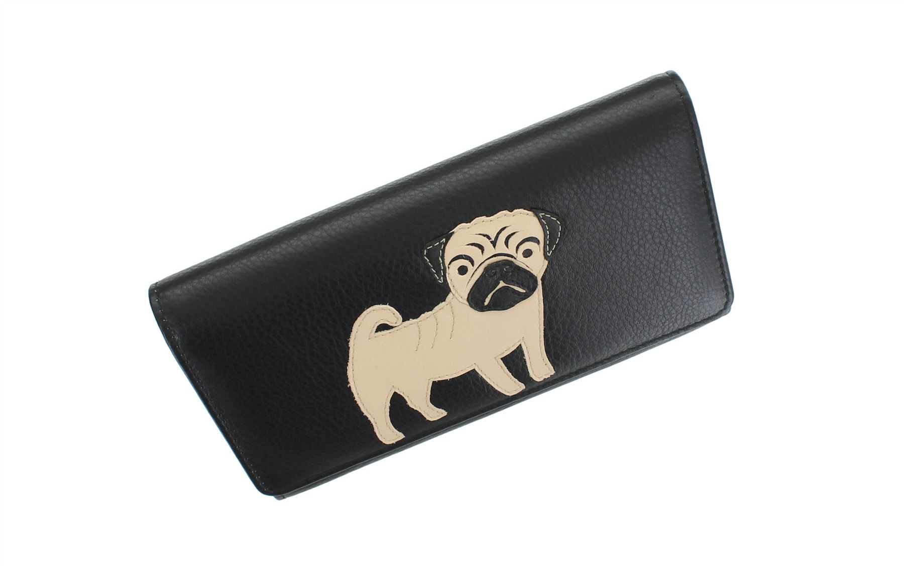 Mala Leather BEST FRIENDS Collection Leather Pug Purse 3334/_65