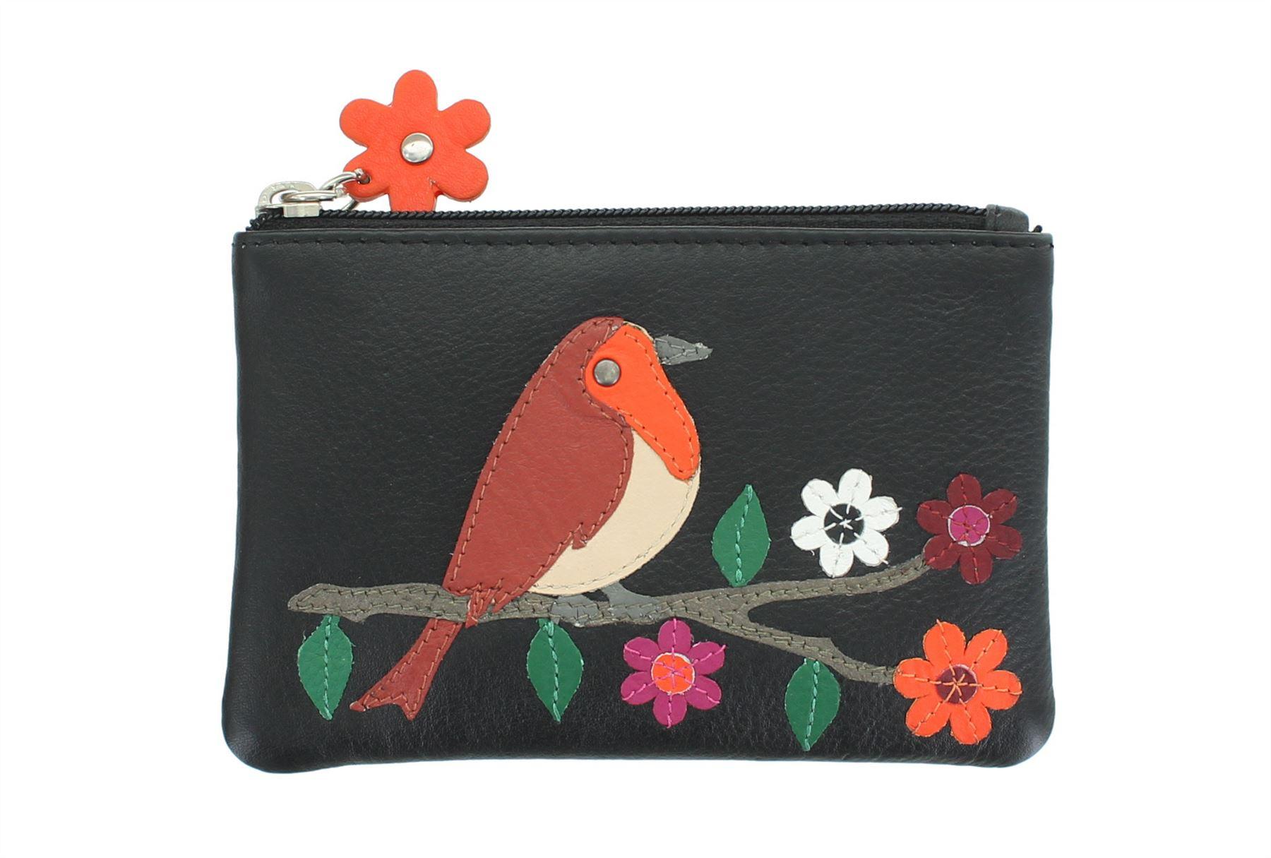 Mala Leather ROBIN collezione portamonete con portachiavi-RFID PROTECTED 4151 /_ 97