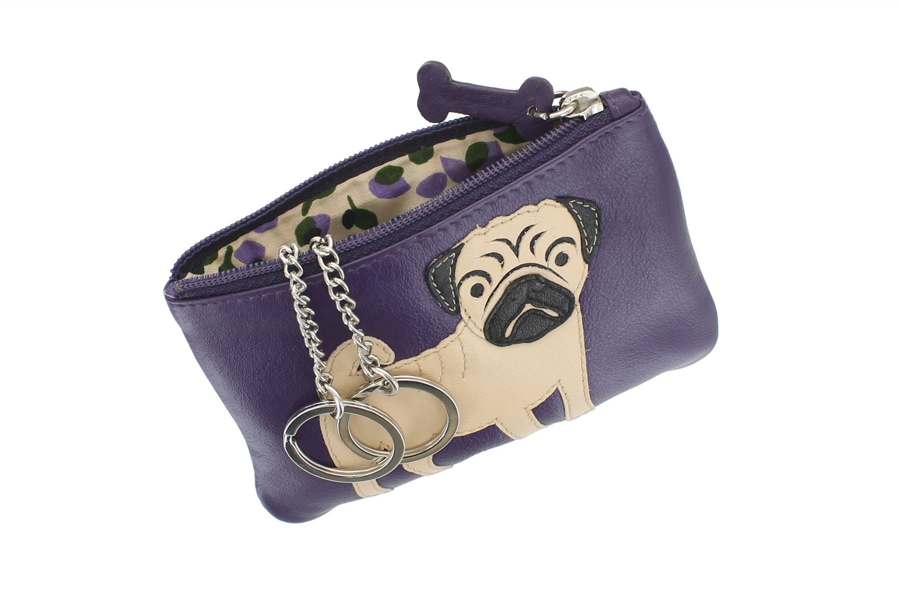 Mala Leather BEST FRIENDS Collection Leather Pug Coin Purse 4145/_65