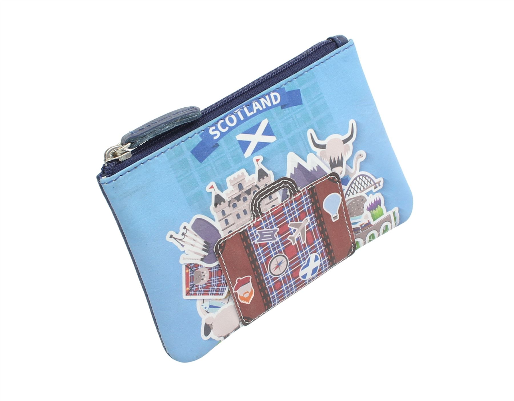 Mala Leather Applique And Printed Leather Coin Purse 4115/_11
