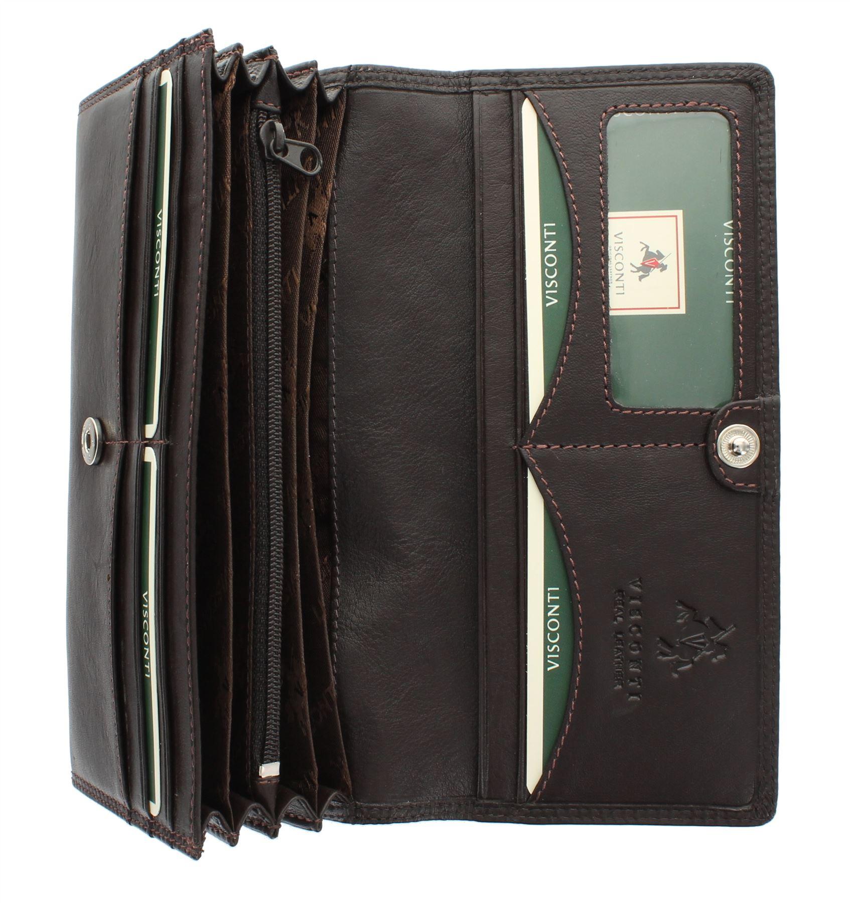 Visconti Heritage Collection BUCKINGHAM Leather Purse HT35 RFID blocking