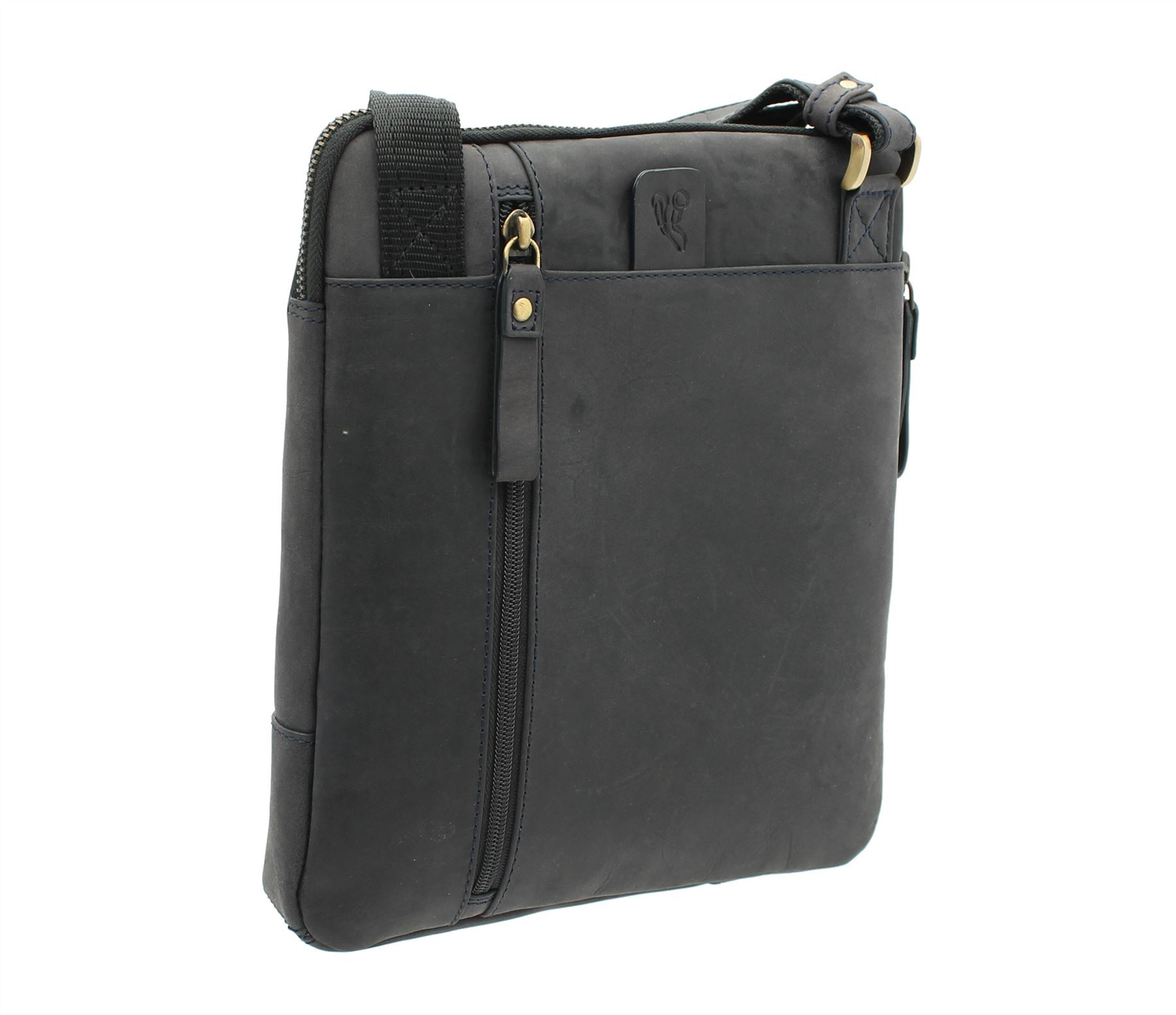 iPad Cross Body Messenger Bag 15056 Visconti ROY Oiled Leather Tablet