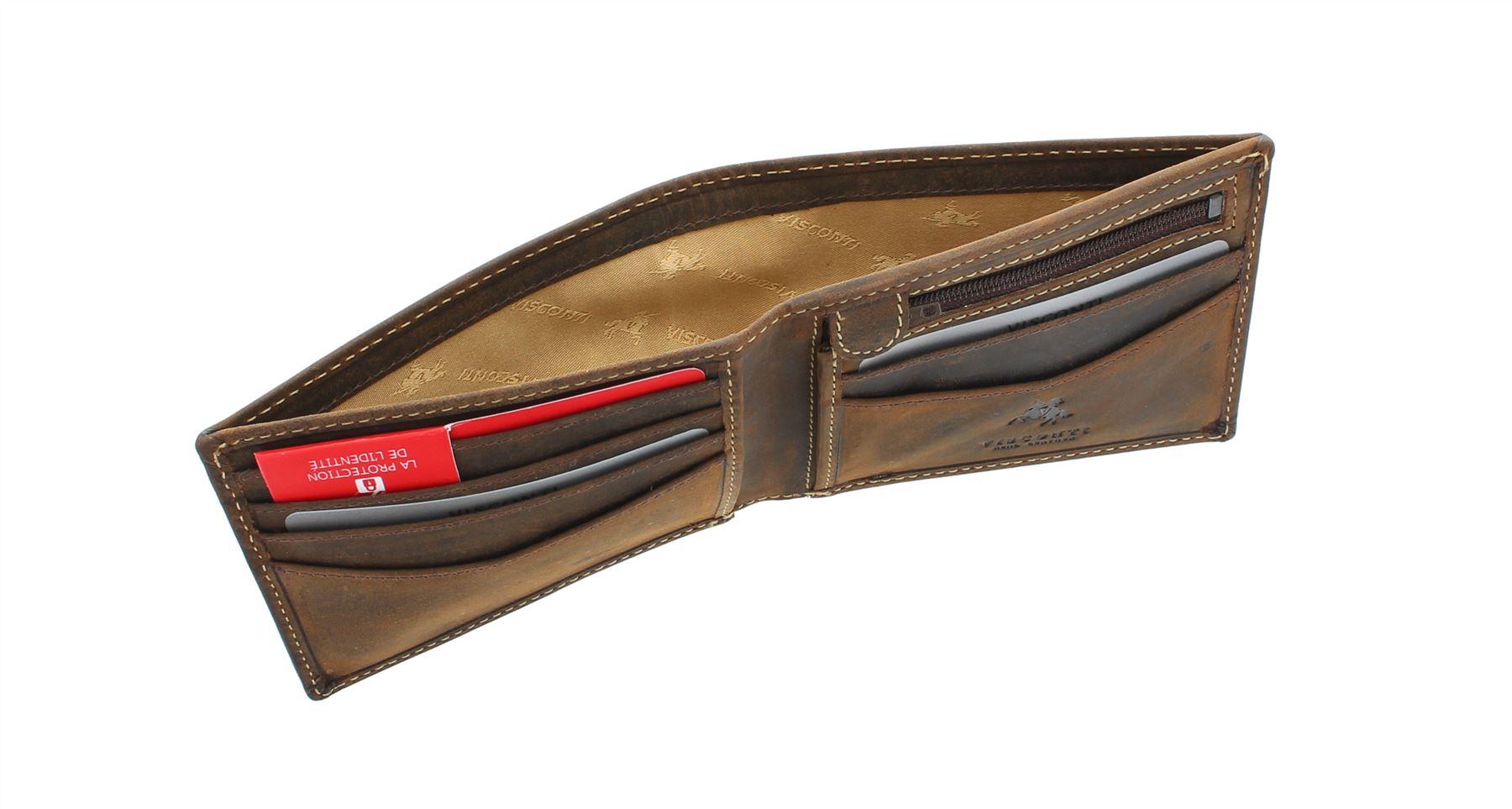 Visconti slim collection épée portefeuille cuir rfid protection VSL20