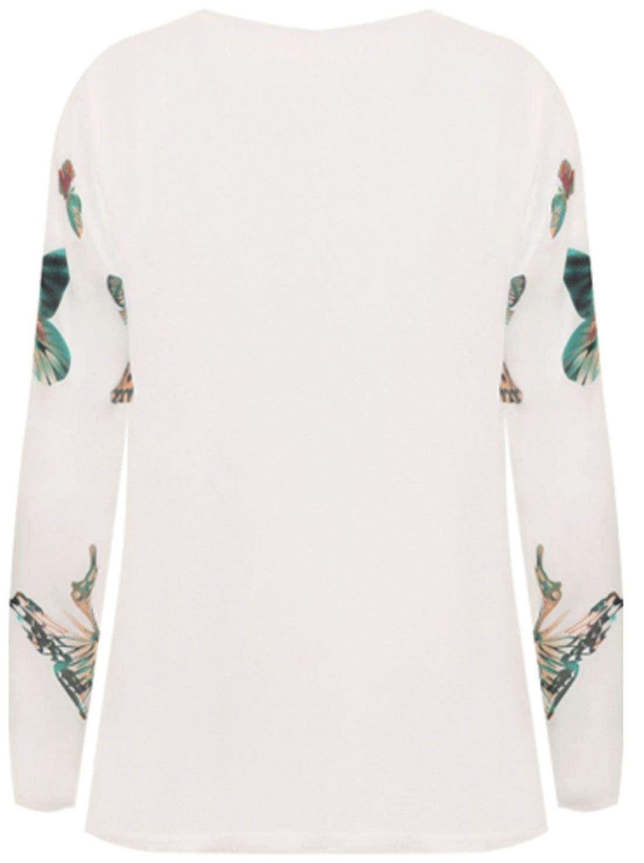 Da Donna Completo manica farfalla Stampa Cascata Giacca Donna Cardigan Con Zip a Tracolla