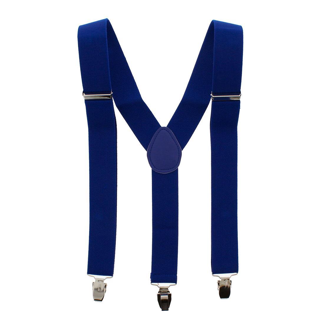 35mm Unisex Mens Men Braces Plain Wide And Heavy Duty Adjustable Suspenders