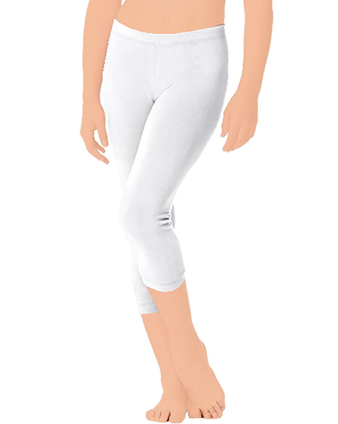 Girls 3-4 Length Flexible Skin Fit Cotton Legging Kids Fancy Casual Wear