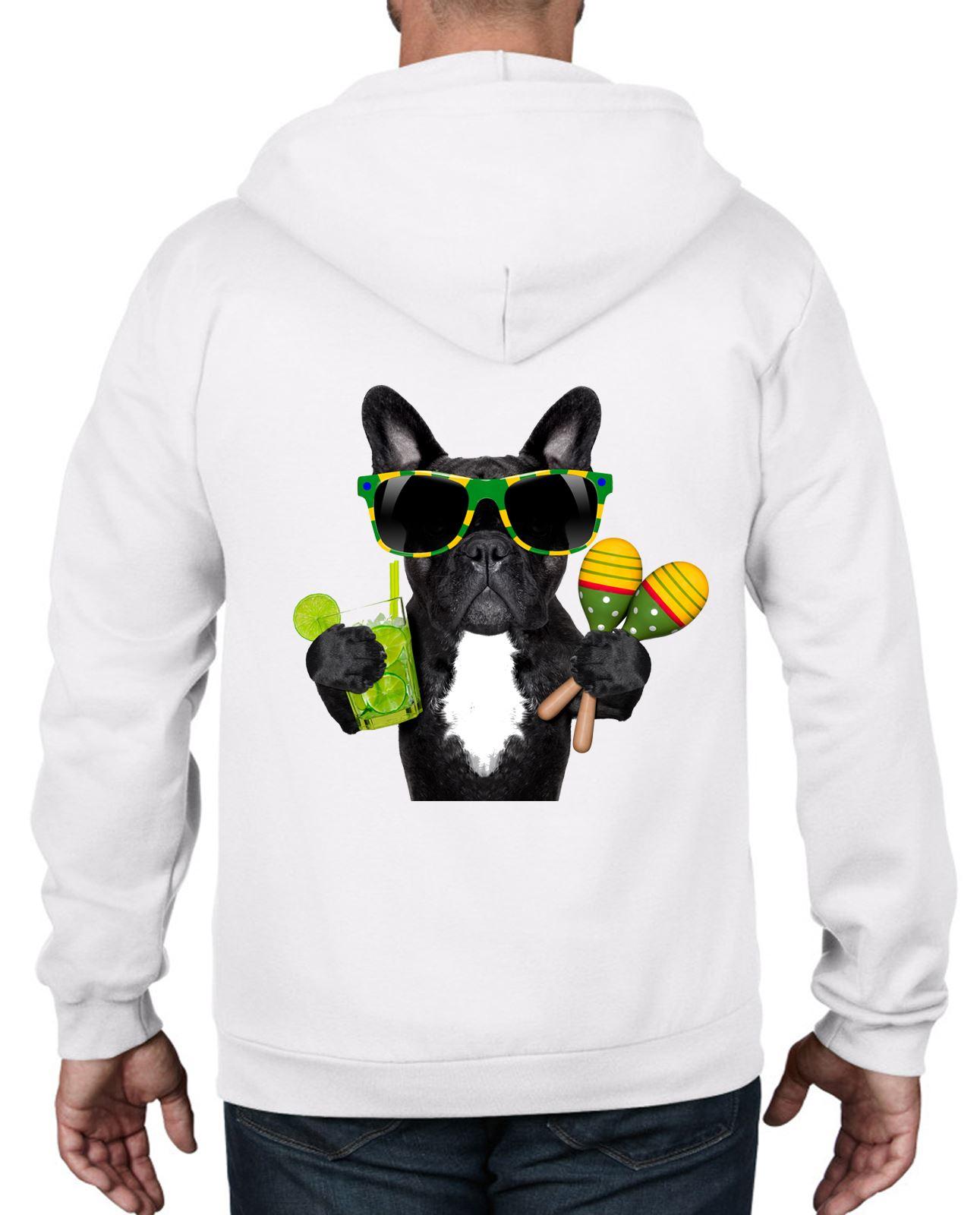 Bulldogs Brazil Funny French Bulldog Brazillian Style Full Zip Hoodie