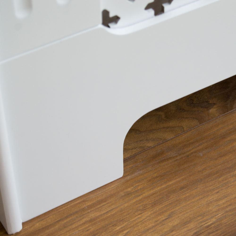 Oxford radiateur Couverture Blanc Bois Traditionnelle Croix Grill Chaleur Garde Meubles