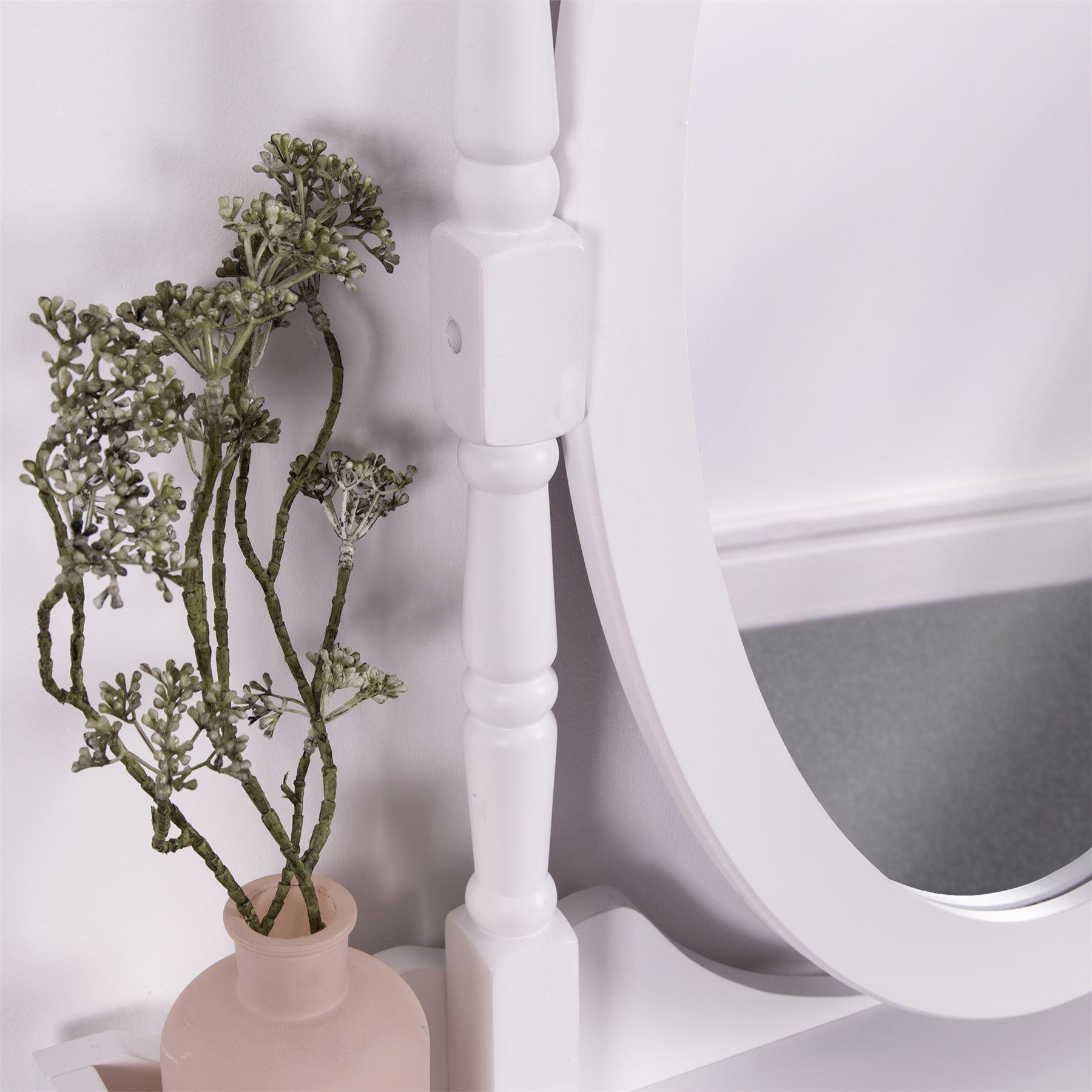 Nishano coiffeuse bijoux Armoire à Miroir Meubles De Chambre Maquillage Blanc