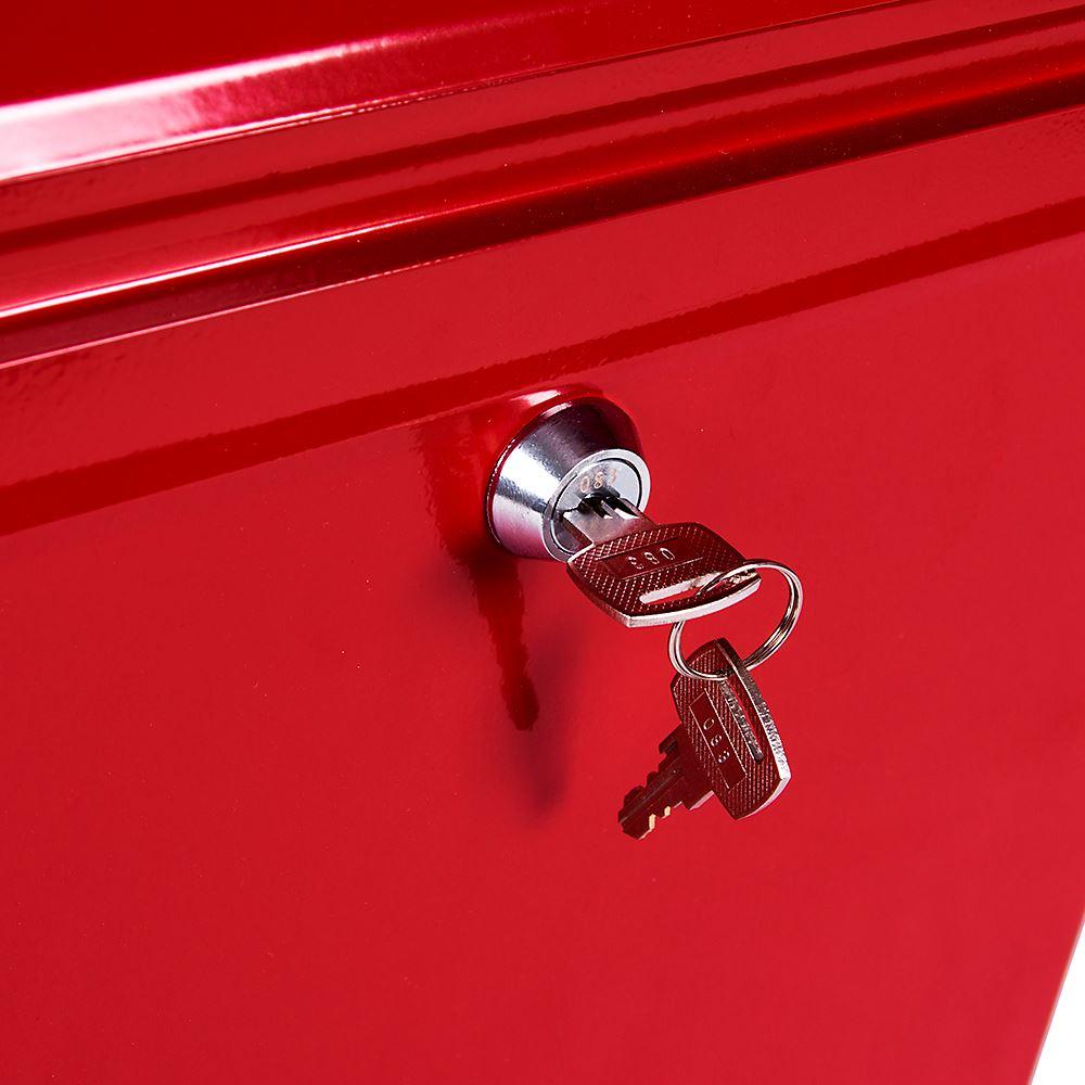Post Box Acier Grand Mural Boîte aux lettres Lettre Maison Carrée Key Lock Outdoor