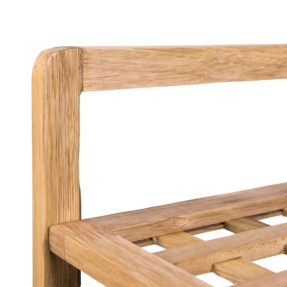 3 niveaux étagère à chaussures criss cross naturel en bois de noyer chaussures support de stockage unité