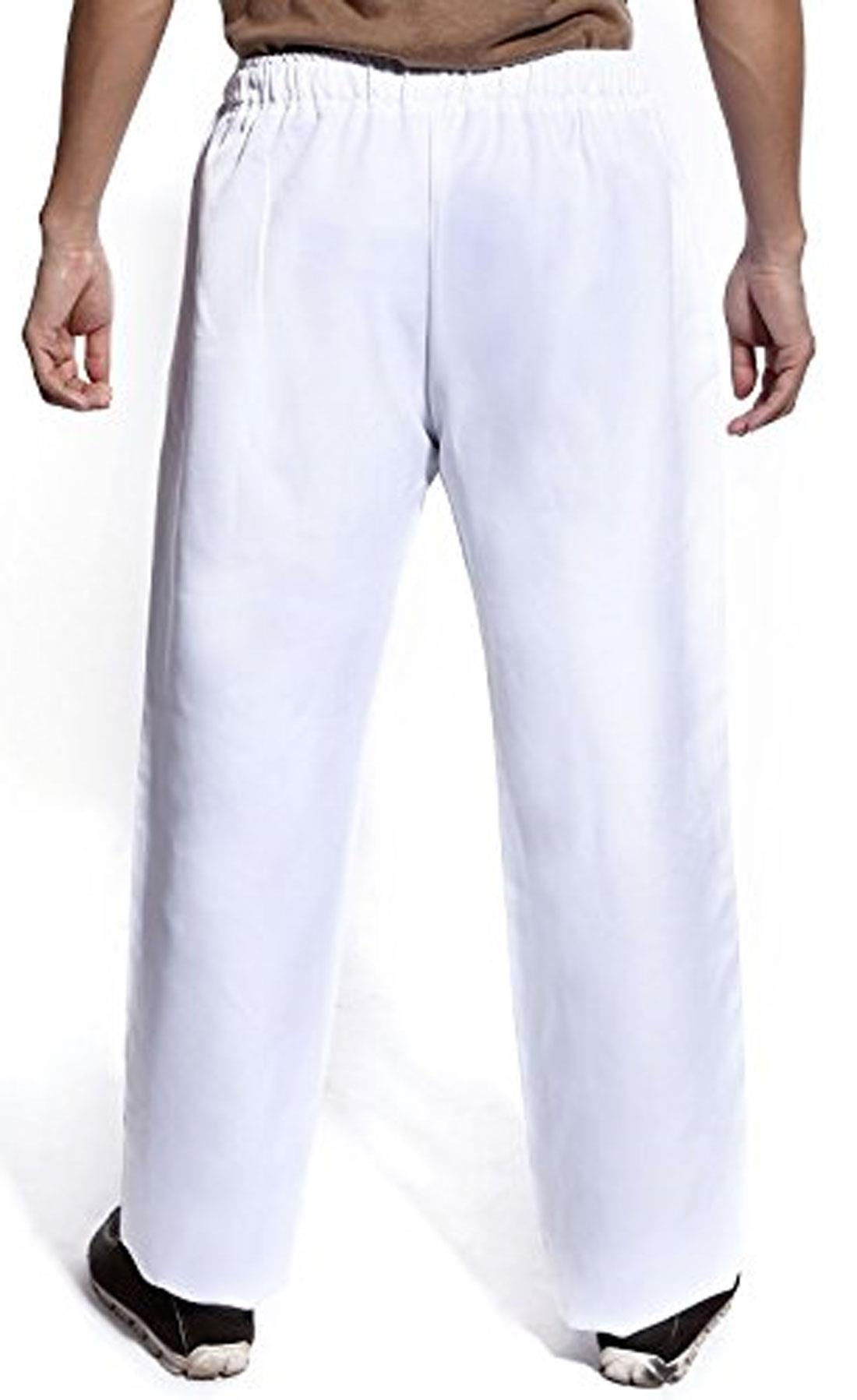 Da Uomo Bianca Chef alimentare Vita Elasticizzata Pantaloni Donna Work Wear Pantaloni