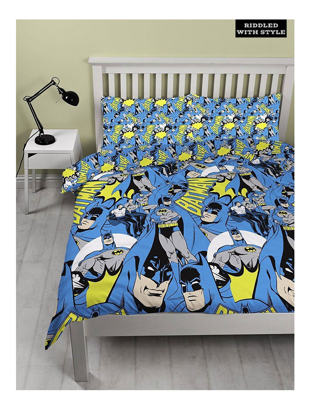 Enfants Batman Character Dc Comic Hero Double Face Feuille Enfants