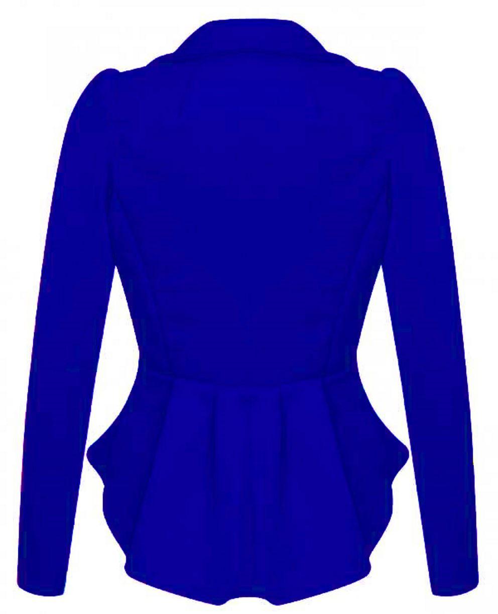Nouveau femme crop frill shift slim veste peplum blazer manteau taille 8-24
