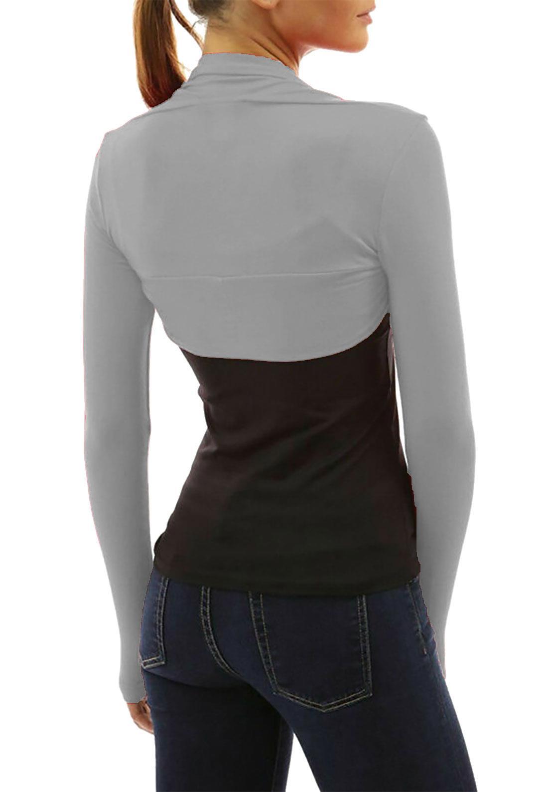 Ladies Long Sleeves Cropped Bolero Womens Stretchy Plain Shrug