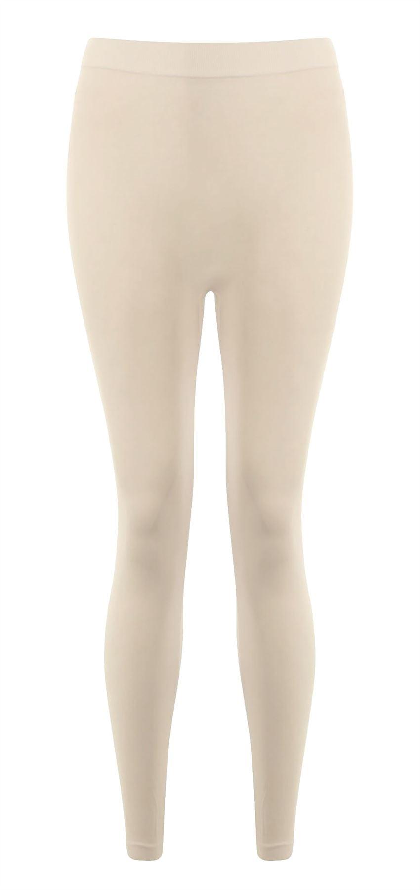 Ladies Viscose Plain Full Length Leggings Womens Elastic Waist Casual Gym Pants