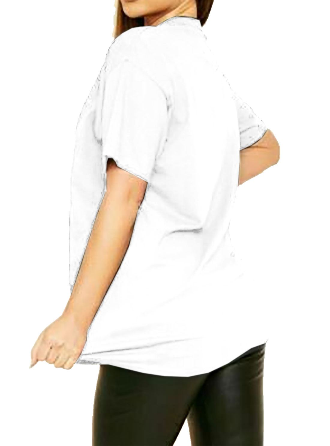 Round Neck Doir Print T-shirt Ladies Slogan Tee Top Short Sleeves Shirt