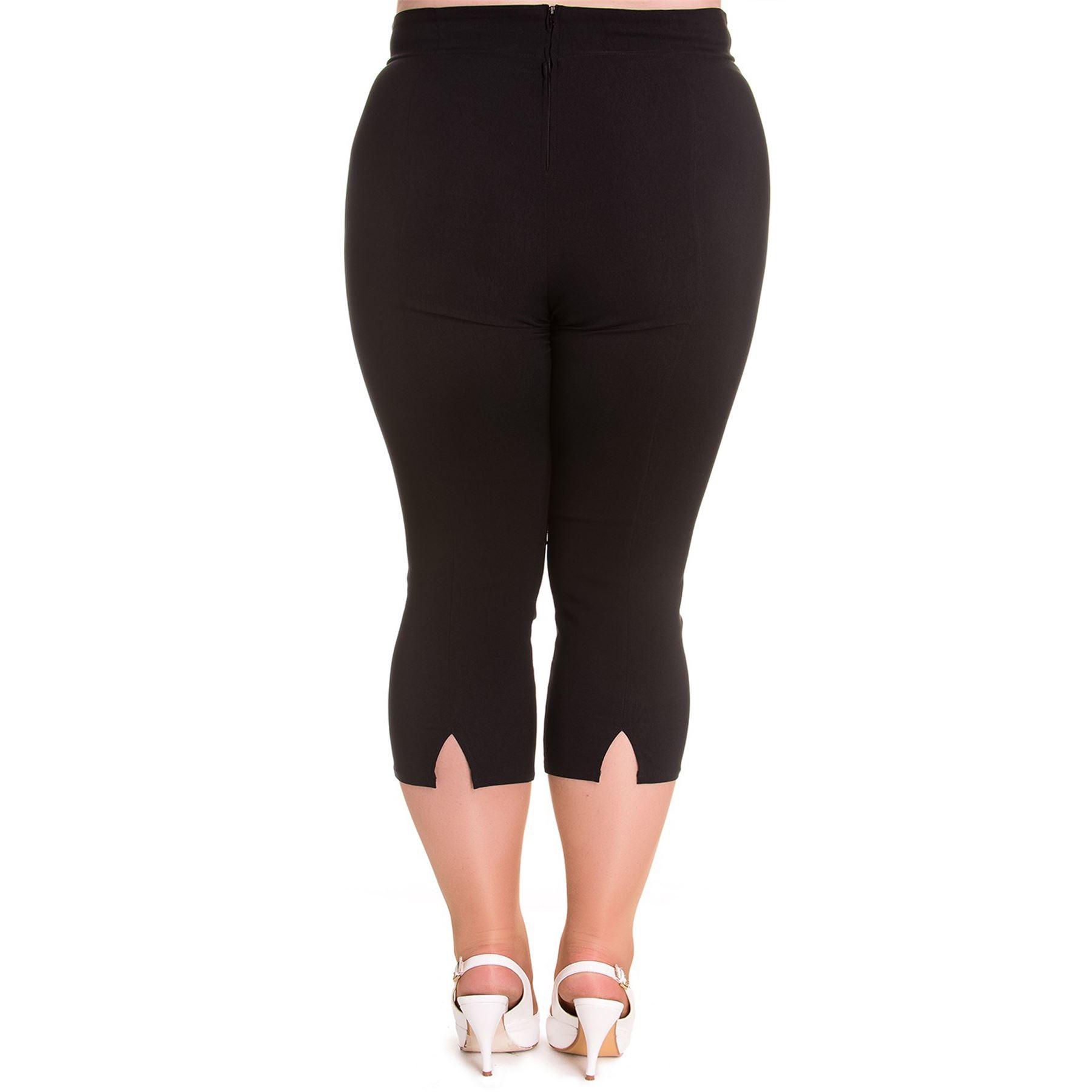 Hell Bunny Tina Capri Trousers Pedal Pushers PLUS SIZES XS 4XL