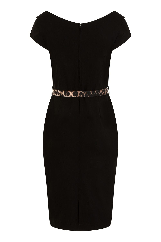 Hell Bunny Retro Feline Pencil Dress REDUCED SALE RRP £44.99