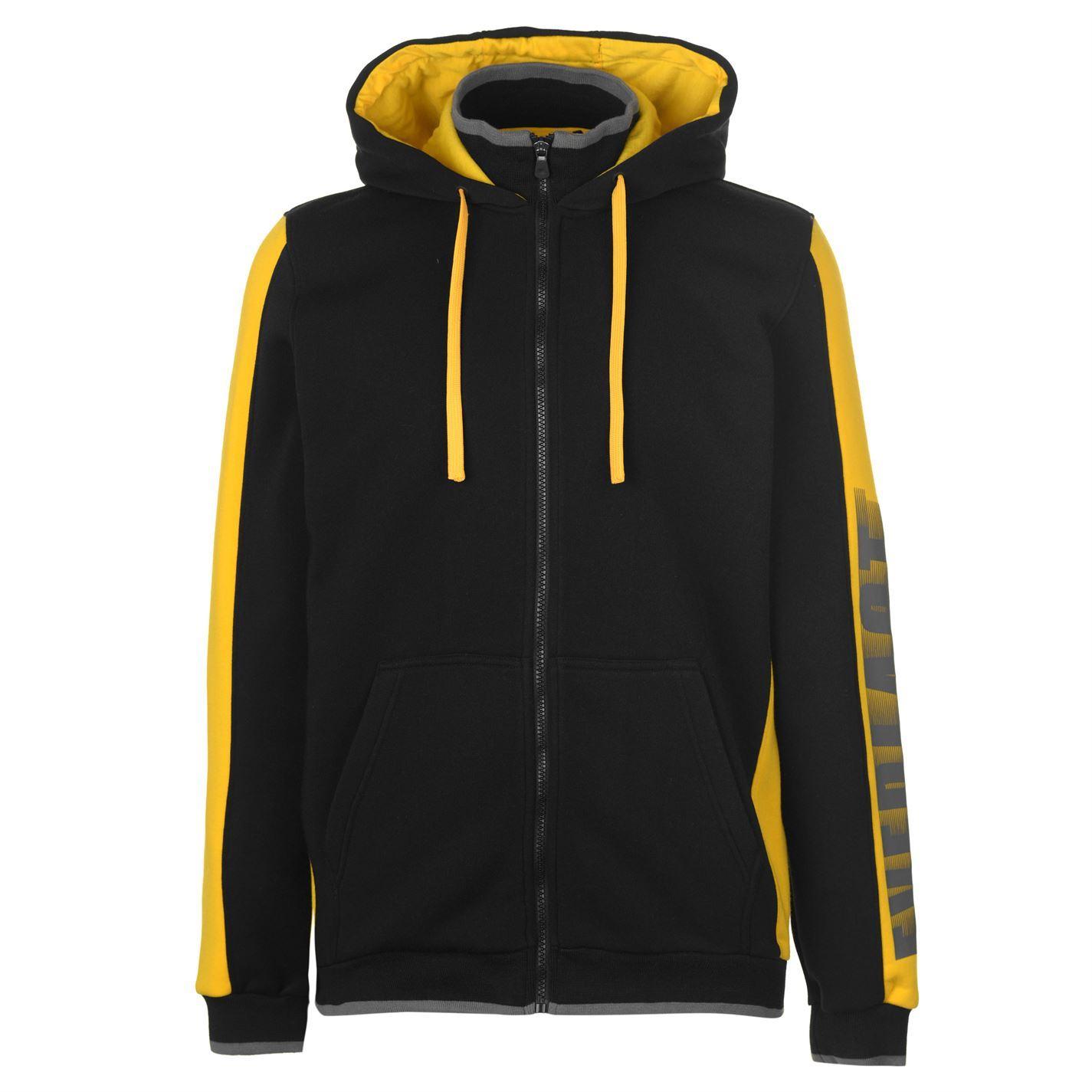 Everlast Plush Fleece Full Zip Hoody Mens Hoodie Top Sweatshirt Sweater